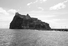 Ischia island castle. The historic aragonese castle at ischia island in italy Royalty Free Stock Photography