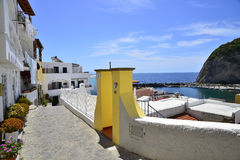 Ischia island. A traditional view of one of the small Ischia center along the island shoreline Stock Photography