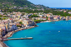 Ischia island - view from castle Aragonese. Italian holidays Stock Images