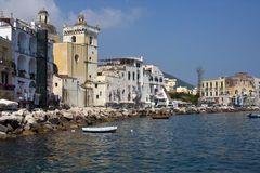 Ischia isle. In a sunny day royalty free stock photography