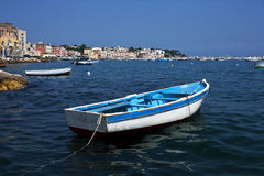 Ischia isle. In a sunny day royalty free stock images