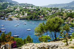 Ischia, italy. View of ischia from the aragonese castle, italy Royalty Free Stock Photo