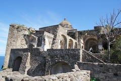 Ischia kasteelruïnes Royalty-vrije Stock Afbeeldingen