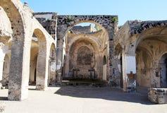 Ischia katedry ruiny fotografia royalty free