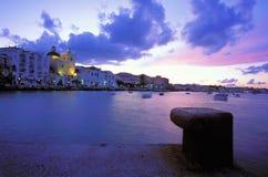 Ischia Ponte van het dorp Royalty-vrije Stock Afbeelding