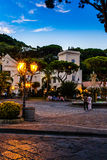 Ischia Streets. A dusk scene from a small town on Ischia island, off the coast of mainland Italy Royalty Free Stock Photo