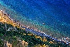 Ischia toneelkustlijn Stock Foto