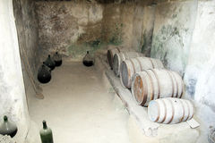 Ischia wine cellar Royalty Free Stock Images