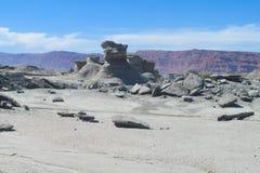 Ischigualasto desert landscape Royalty Free Stock Image