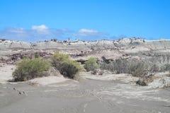 Ischigualasto gray desert landscape Stock Photo
