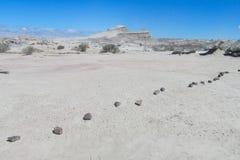 Ischigualasto gray desert landscape Royalty Free Stock Photos