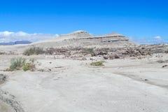 Ischigualasto gray desert landscape Stock Photos