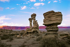 Geological formation, Ischigualasto National Park Stock Photos