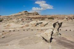 Ischigualasto rock formations in Valle de la Luna, Argentina Stock Photography