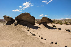 Ischigualasto rock formations in Valle de la Luna, Argentina Stock Photo