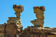 Ischigualasto rock formations in Valle de la Luna, Argentina Stock Image