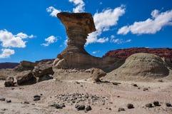 Ischigualasto rock formations in Valle de la Luna, Argentina Stock Images