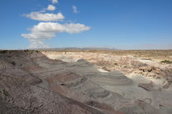 Ischigualasto vaggar bildande i Valle de la Luna, Argentina Royaltyfri Bild