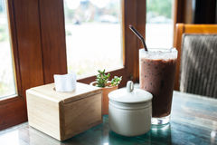 Ischoklad i kaffetiden Fotografering för Bildbyråer
