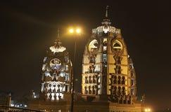 ISCKON Temple at night, New Delhi Royalty Free Stock Photography