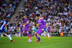 Isco Alarcon plays at the La Liga match between RCD Espanyol and Real Madrid CF stock image