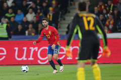 Isco. Francisco Roman Alarcon Suarez Isco midfielder of the Spanish National Football Team, pictured during the friendly match between Romania and Spain, played stock image