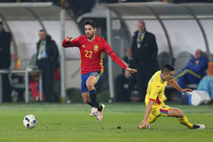 Isco. Francisco Roman Alarcon Suarez Isco midfielder of the Spanish National Football Team, pictured during the friendly match between Romania and Spain, played stock photography