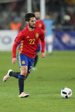 Isco. Francisco Roman Alarcon Suarez Isco midfielder of the Spanish National Football Team, pictured during the friendly match between Romania and Spain, played royalty free stock photo