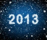 Iscrizione 2013 da neve Immagine Stock Libera da Diritti