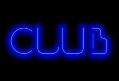 Iscrizione al neon Fotografia Stock Libera da Diritti