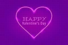Iscrizione al neon del cuore di San Valentino per le congratulazioni illustrazione vettoriale