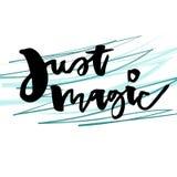 Iscrizione artistica di Vetcor Carattere schietto di stile del abstact Qoute ispiratore Appena magico Fotografie Stock