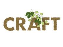 Iscrizione in birra stilizzata Fotografie Stock