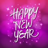 Iscrizione 'buon anno' della mano Immagini Stock Libere da Diritti