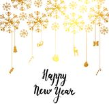 Iscrizione calligrafica del buon anno Immagine Stock