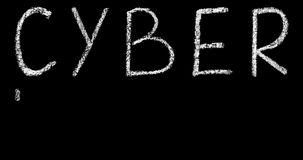Iscrizione cyber dell'iscrizione del testo di lunedì archivi video