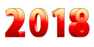iscrizione 3D 2018 Immagine Stock