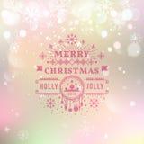 Iscrizione d'annata di tipografia di Buon Natale retro Fotografia Stock