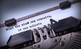 Iscrizione d'annata fatta dalla vecchia macchina da scrivere Fotografie Stock Libere da Diritti