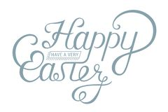 Iscrizione d'annata felice di Pasqua per la cartolina d'auguri royalty illustrazione gratis