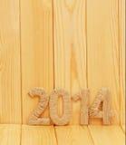 Iscrizione 2014 dal tessuto Immagine Stock
