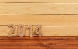 Iscrizione 2014 dal tessuto. Nuovo anno. Fotografia Stock Libera da Diritti