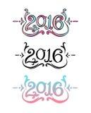 Iscrizione decorativa 2016 Fotografia Stock Libera da Diritti
