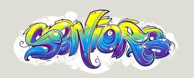 Iscrizione dei graffiti Fotografia Stock