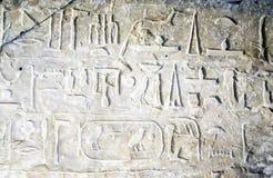 Iscrizione del geroglifico in museo egiziano fotografia stock libera da diritti