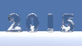 Iscrizione 2015 del ghiaccio Immagine Stock Libera da Diritti
