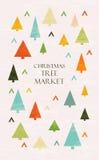 Iscrizione del mercato dell'albero di Natale Fotografia Stock Libera da Diritti