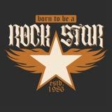 Iscrizione del rock star Fotografia Stock