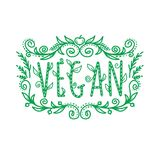 Iscrizione del vegano, struttura Immagine Stock