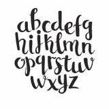 Iscrizione dell'alfabeto con lettere latino illustrazione di stock